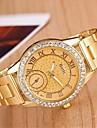 Mulheres Relogio Casual Quartzo Lega Banda Prata Dourada Prata Dourado