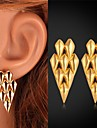Earring Stud Earrings Jewelry Wedding / Party / Daily / Casual / Sports Gold Plated Gold
