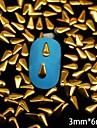 100PCS 3mm * 6mm 황금 드롭 금속 리벳 네일 아트 장식