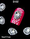 DIY 손가락 끝 액세서리 네일 아트 장식 모조 다이아몬드 합금 10PCS 물 드롭 크리스탈
