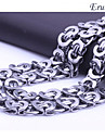 Eruner®Domineering Silver Flat Paperclip Titanium Steel Necklace