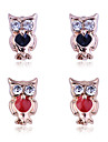 Earring Animal Shape / Owl Stud Earrings Jewelry Women Party / Daily / Casual Crystal / Gold Plated 1set