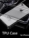 vente chaude style ultra mince souple et flexible de cas de TPU transparent pour iPhone 4 / 4S (couleurs assorties)
