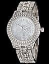 reloj de marcacion diamante de la aleacion del diamante banda de pulsera de cuarzo de las mujeres (colores surtidos)