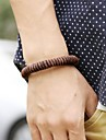 Vintage Punk Contracted Brown Genuine Leather Men\'s Bracelets