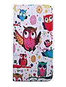 4.5 Inch Owl Pattern PU Wallet Leather Case for Sony Xperia E3