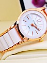 Women's Round Dial Rose Gold Ceramic Band Quartz Bracelet Watch (Assorted Colors) Cool Watches Unique Watches
