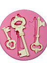 Silicone Mold/Mould Steampunk Skeleton Key For Crafts Jewelry Chocolate Fondant PMC Resin Clay