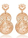 Gold Plated Earring Drop Earrings Wedding/Party 2pcs