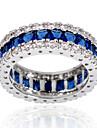 Массивные кольца Сапфир Драгоценный камень Циркон Синий Бижутерия Свадьба Для вечеринок Повседневные Спорт 1шт