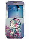 Campanula Pattern PU Leather Full Body Case with Stand for Samsung Galaxy S6