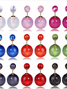 Candy Colored Imitation Pearl Stud Earrings(More Color)(1Pair)