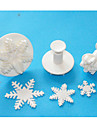 FOUR-C Excellent Snowflake Sugarcraft Fondant Cake Decorating Plunger Cutters,Christmas Theme Cake Tools Set
