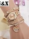 Women's Diamond Heart Pearl Quartz Analog Bracelet Watch(Assorted Colors) Cool Watches Unique Watches