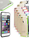 For iPhone 6 Case / iPhone 6 Plus Case LED Flash Lighting / Ultra-thin / Transparent Case Back Cover Case Solid Color Hard PCiPhone 7