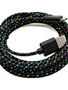 Old Shark™1M 3ft Micro USB Charging and Data Sync Cord Cable Fabric Braided Woven for Android Devices