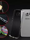 Para Samsung Galaxy Capinhas Transparente Capinha Capa Traseira Capinha Cor Unica PC Samsung S6 edge