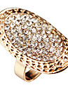 Lovely Rhinestone Oval Sharp More Color Ring For Women(1 Pc)