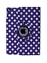 Round Dots PU Leather 360⁰ Smart Covers for iPad 2/3/4 (Assorted Colors)