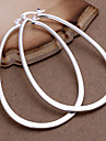 Hoop Earrings Fashion Statement Jewelry Copper Silver Plated Geometric Silver Jewelry For Party Daily Casual 2pcs