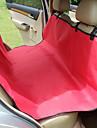 Hund Auto Sitzbezug Haustiere Matten & Polster Wasserdicht / Tragbar / Klappbar rot / schwarz / blau / braun / grau Stoff