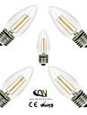 5 шт. ONDENN E26/E27 4 COB 400 LM Тёплый белый C35 edison Винтаж LED лампы накаливания AC 220-240 / AC 110-130 V