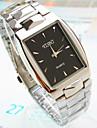 Men's New Explosion Square Dial Steel Strip Fashion Business Quartz Watch (Assorted Colors) Cool Watch Unique Watch