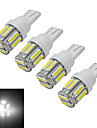 3W T10 Lichtdekoration 10 SMD 7020 210lm lm Kuehles Weiss DC 12 V 4 Stueck