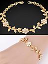 U7® Elegant Bracelets Olive Leaf Design Clear Austrian Rhinestone 18K Gold Plated Fashion Jewelry Gift For Women