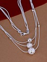Women\'s Statement Necklaces Silver Plated Fashion Costume Jewelry Jewelry For Wedding Party Daily Casual