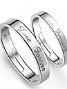 Men\'s Couple\'s Couple Rings Costume Jewelry Silver Sterling Silver Jewelry For Wedding Party Engagement Daily Casual