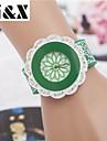 Women's Fashion Flower Quartz Analog Sillicon Bracelet Watch(Assorted Colors) Cool Watches Unique Watches