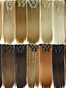 6pcs/lot 16 Clip in Hair Extension Synthetic 24 Inch Long Straight Hairpiece