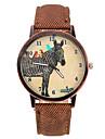 motif zebre uniques PU bande de montre-bracelet en cuir (brun) (1pcs)