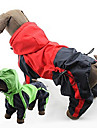 Dog Rain Coat Red / Green Spring/Fall Classic Waterproof