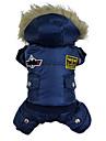 honden Jassen / Hoodies / Jumpsuits Rood / Blauw / Bruin Winter Politie/militair Modieus / Houd Warm
