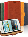 Bark Grain Genuine Leather Full Body Cover with Stand and Case for Samsung S3 Mini I8190N