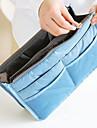 Organizador para Maquiagem Bolsa de Cosmetico / Organizador para Maquiagem Nailon Cor Unica 28*17*9.5 cm 11.02*6.69*3.74 inchCinza / Azul