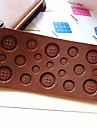Button Shaped Candy Chocolate Muffin Baking Mould Mold (Random Color)