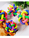 Cat / Dog Pet Toys Ball Nobbly Wobbly Rainbow Rubber