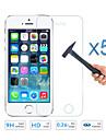 5шт качество закаленное стекло экран фильма протектор для Apple IPhone 5 5s