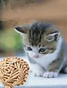 Игрушка для котов Игрушки для животных Шарообразные Шерсть Дерево Желтый