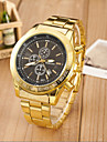Men's Fashion Sport Quartz  Steel Belt Gold Watch(Assorted Colors) Wrist Watch Cool Watch Unique Watch