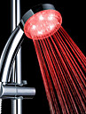 3-Color ABS Temperature Detectable LED Color Changing Hand Shower