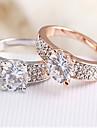 Массивные кольца Сплав Серебряный Розовый Бижутерия Для Свадьба Для вечеринок Повседневные 1шт