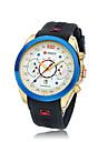 Hombre Reloj de Moda Silicona Banda Reloj de Pulsera Negro / Marron