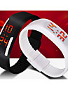 Unisex LED Digital Candy Color Silicone Strap Bracelet Sports Wristwatch