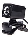 4LED USB 2.0 12 M HD Camera Web Cam with MIC Clip-on Night Vision 360 Degree for Desktop Skype Computer PC Laptop