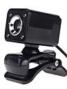 Usb 2.0 4LED 12 m hd camera web cam avec micro vision de clip-on nuit a 360 degres pour le bureau skype ordinateur pc portable