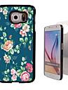 Rose Design Aluminum Hard Case for Samsung Galaxy S6